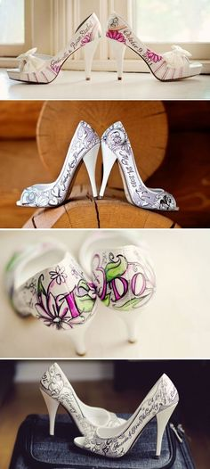 Figgies Personalised Shoes.  I am SO ordering a pair of these when I get hitched!!!!