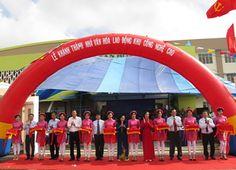 Cho thuê Dù che nắng mưa-Khánh thành nhà văn hóa đầu tiên trong KCN, KCX