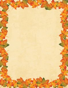 x Imprintable Stationery This colorful x holiday paper is perfect for creating your own invitations, announcements and personal messages. Paper is compatible with most inkjet and laser printers. Borders For Paper, Borders And Frames, Invitation Paper, Stationery Paper, Party Invitations, Colored Envelopes, Writing Paper, Autumn Leaves, Maple Leaves