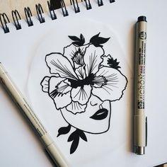 I wish I could be a Flower  набью этот эскиз с... / cat.n.tattoo