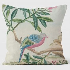 A beautiful collection of cushions curated 7 inspired by the illustrations held at the RHS Lindley Library all Lovingly hand made in UK - welovecushions Pink Home Decor, Pink Bird, Soft Furnishings, Dusty Pink, Our Love, Cushions, Throw Pillows, Fun, Dusty Rose