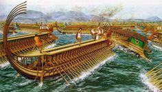 """The battle of Salamis"", Peter Connolly"