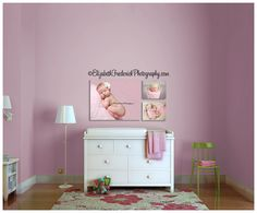 Wall Display   Elizabeth Frederick Photography.   Nursery template from www.arianafalerni.com/design