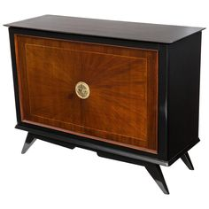 French Midcentury Buffet or Bar in the Manner of Suzanne Guiguichon   From a unique collection of antique and modern buffets at https://www.1stdibs.com/furniture/storage-case-pieces/buffets/