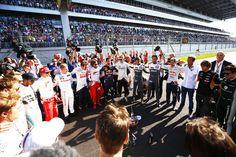 Drivers pay tribute to Jules Bianchi, Sochi Autodrom, 2014