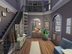 Sims 3 Houses Ideas, Sims 4 Houses Layout, House Layouts, Sims Ideas, Sims 4 House Plans, Sims 4 House Building, Home Building Design, Casas The Sims 3, Lotes The Sims 4