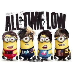 All Time Low Minions @sarah_face07  Omg!!! Tooooooooooo damn cute!!!  #AllTimeLow