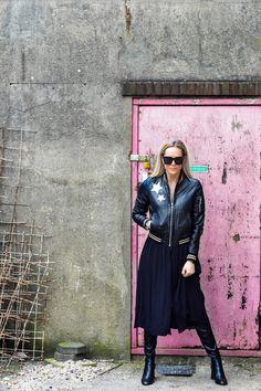 Leather & Stars #blackonblack #stars #leather #transmission #outfit #fashion