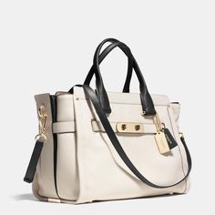 COACH Designer Handbags | Coach Swagger 37 Carryall In Colorblock Leather