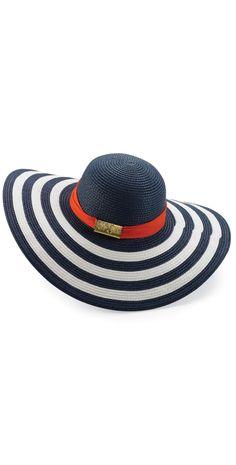 Mud Pie Grace Colorblock Navy Sun Hat #MudPie #Grace #ColorBlock #Navy #Sun #Hat #Southbeach #Southbeachswimsuits Coachella 2014, Beach Hats, Floppy Hats, Love Hat, Visors, Nautical Fashion, Mud Pie, Repurposed Furniture, Headgear