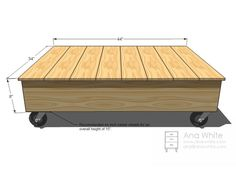 Build a Factory Cart Coffee Table : Rooms : Home & Garden Television  http://www.hgtv.com/living-rooms/build-a-factory-cart-coffee-table/index.html