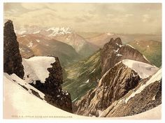 Printed in 1905 by the Michigan-based Detroit Publishing Company, this group of photochroms showcased the scenery of the Swiss Alps for consumers who might or might not have ever visited Switzerland in person.
