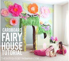 DIY Cardboard Fairy House Tutorial - VIDEO + PHOTOS