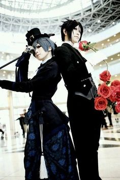I really want to cosplay as this. I'll be Sebastian and @AlanaBVBArmy can be Ciel because she's a perfect fit.