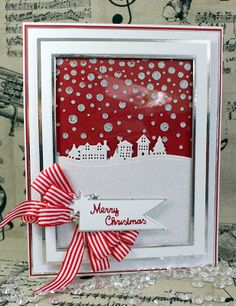 Happy Saturday, A scene card today made using the Snow scenes this time cut form snow( well Glitter Foam but it looks like a snow drift!) I cut the snow scenes die from white Crafts Too Glitter Foam. Christmas Cards 2018, Homemade Christmas Cards, Merry Christmas Card, Xmas Cards, Christmas Art, Handmade Christmas, Holiday Cards, Christmas Ideas, Christmas Shadow Boxes