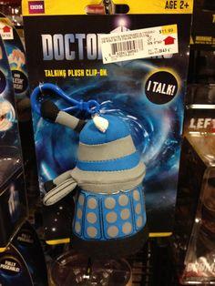 Doctor Who Blue Dalek Mini Talking Plush.