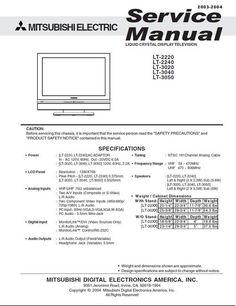 Mitsubishi LT-2220 , LT-2240 , LT-3020 , LT-3040 , LT-3050 , Service Manual  ATTENTION : Schematics DOWNLOAD