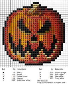 Pumpkin cross stitch pattern