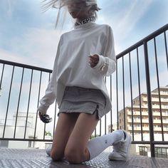 白い服だと肌が褐色に見えるね。 #きょうの太陽浴 #blackeyepatch #sugarcranz #jieda #kswiss_allwhite