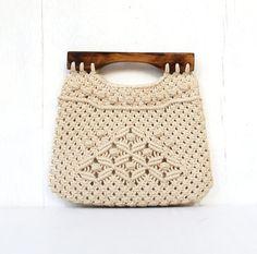 vintage folk macrame handbag purse philippines by DrVintage, $16.50