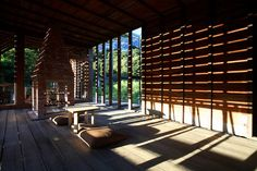Built by C-Laboratory in Sanzhi District, Taiwan with date 2008. Images by C-Lab. The house is realized on an old Japanese cherry-farm in the Datun -mountains of North-Taiwan. It is designed as a ves...