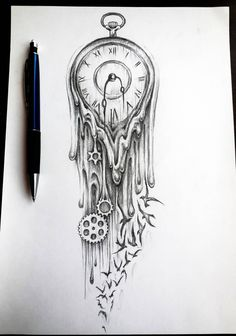 clock tattoo sketch - Szukaj w Google