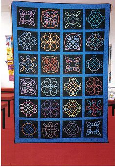 A raffle quilt made by the Retreating Angels Celtic Quilt, Celtic Symbols, Celtic Art, Celtic Knots, Mayan Symbols, Celtic Dragon, Egyptian Symbols, Ancient Symbols, Quilting Projects
