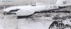 A crashed Fiat G.55 of the Argentinian Air Force.