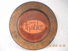 Personalized Fall Charger Home Decor. $15.00, via Etsy.