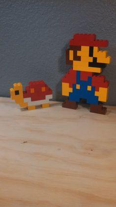 LEGO Super Mario Brothers pixel Art 3d / 2d  Figure by JediReSale, $15.00