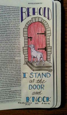 Revelation 3:20 Bible Journaling