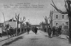 French soldiers across the Bank of Crete, Chania..
