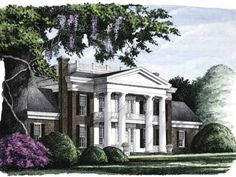 """This NeoClassical House called """"The Savannah"""" Has been my all time favorite southern antebellum house! Still love it after 9 years of drooling over it!!"""