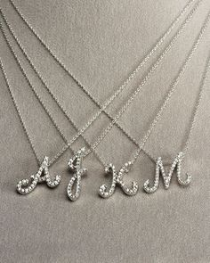 14k white gold initial pendant with diamonds diamond initial 14k white gold initial pendant with diamonds diamond initial necklace initial necklaces and white gold aloadofball Gallery