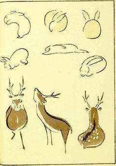 『鳥獣略画式』5-2(1797年、北尾政美 画)