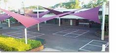 Image result for shade sail, tree shape Fabric Structure, Roof Structure, Shade Structure, Building Structure, Swimming Pool Enclosures, Swimming Pools, Milan Restaurants, Membrane Structure, Tensile Structures