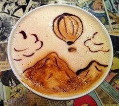 Coffee art - ballonvaart