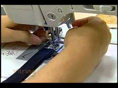 Bolsa com retalhos jeans com Lídia Reis - Vitrine do Artesanato na TV - YouTube