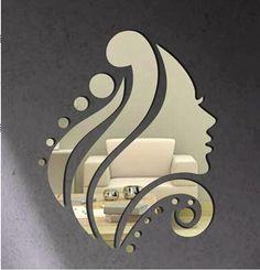Cheap 2016 new fashion fata specchio autoadesivo della parete per soggiorno autoadesive acrilico decalcomanie della parete decorazione domestica moderna 48 s, Compro Qualità Adesivi murali direttamente da fornitori della Cina:
