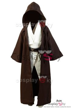 Star Wars Obi-Wan Kenobi Jedi Cosplay Disfraz Versión para Niños_1