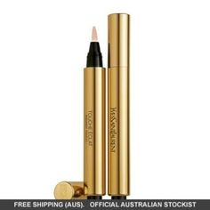 YSL Touché Eclat Radiant Touch Concealer for under the eye. Cult classic secret weapon because it doesn't make a mess when you apply it and easy to apply! Beauty Crush, My Beauty, Beauty Secrets, Health And Beauty, Beauty Makeup, Beauty Hacks, Beauty Products, Beauty Stuff, Beauty Tips