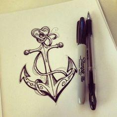 Shipper Tattoo by Shimakotodo on DeviantArt…… maybe not with the heart at the top… but i love this! Shipper Tattoo von Shimakotodo auf DeviantArt …… vielleicht nicht mit dem Herzen an der Spitze … aber ich liebe das ! Mädchen Tattoo, Tattoo Motive, Tattoo Fonts, Piercing Tattoo, Tattoo Drawings, Sketch Tattoo, Tattoo Outline, Pen Sketch, Tattoo Quotes