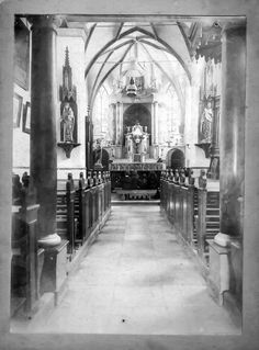 Guesthouse St. Michael in an 11th century church in the south of the Netherlands. This was St. Michael at the beginning of the 20th century. The 18th century altar and organ were transported to a little church in Bokhoven, near St. Hertogenbosch. #convertedchurch  #holidayhome