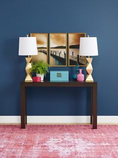 It's all in the framework. Take an inexpensive poster, split it in three, and voila! #makeovers #hgtvmagazine http://www.hgtv.com/decorating-basics/million-dollar-makeovers/pictures/page-2.html?soc=pinterest