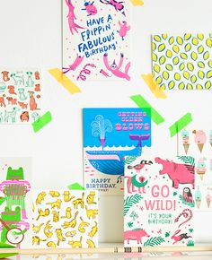 hellolucky.com Kind of like Rifle Paper Co. Great inspiration for flat design (screen print, animal illustrations, bright colors)