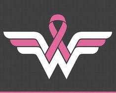 Wonder Woman Breast Cancer Awareness svg, Cancer Awareness ribbon svg, cutting files for CirCut & Silhouette Breast Cancer Art, Breast Cancer Crafts, Breast Cancer Quotes, Breast Cancer Tattoos, Breast Cancer Shirts, Breast Cancer Support, Breast Cancer Survivor, Breast Cancer Awareness, Cancer Survivor Tattoo