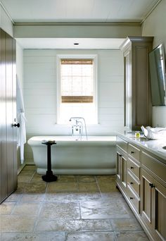 yummm Country Grey, Pure white, that cabinet in the back looks like French Linen. Pour me a bath please!