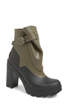 Hunter 'Original Galosh' Waterproof Ankle Bootie (Women) available at #Nordstrom