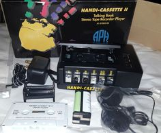 New APH Handi Cassette II Talking Book Stereo Hand Tape Recorder Player 4 Blind #AmericanPrintingHouse