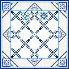 Morning Glory Designs: 2017 BOM - (showing first two blocks and setting) - 14 month mystery - sign up for newsletter and receive a lovely bonus block design each month